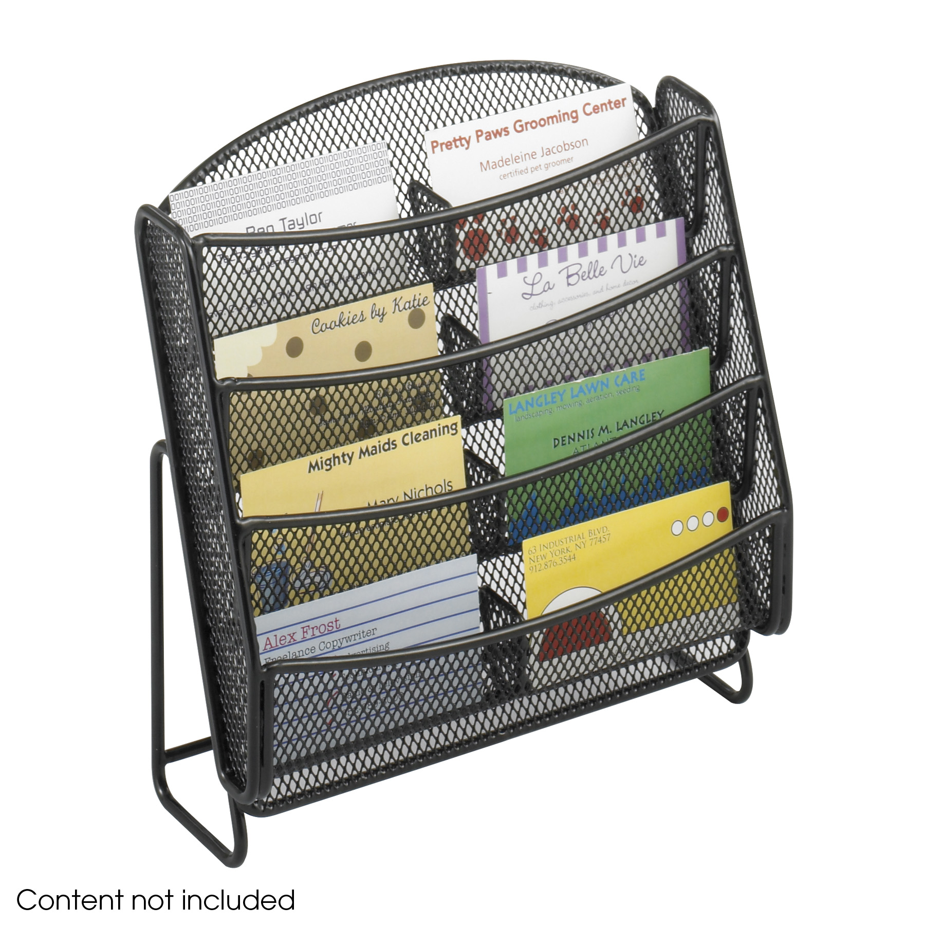 Onyx™ Mesh 48 Pocket Business Card Holder (Qty. 48)  Safco Products