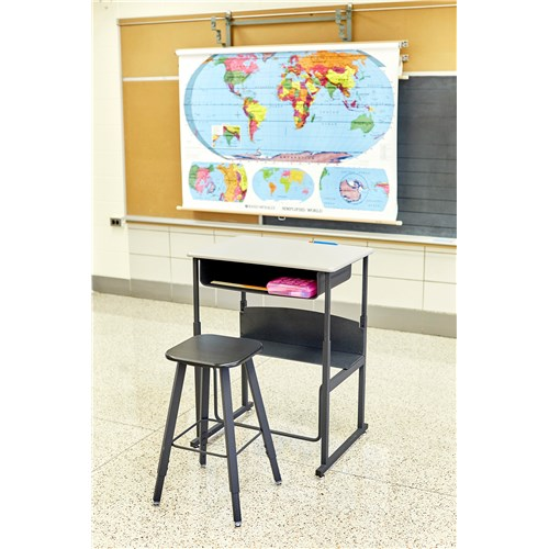sold separately Safco Products 1205BE Alphabetter Stool for Alphabetter Stand-Up Desk Black Frame//Beige Seat