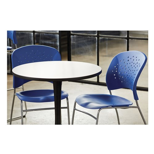 Reve Sled Base Guest Chair and Cha-Cha Round Table