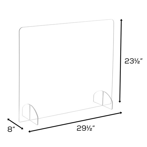 Portable Freestanding 23 5 H Acrylic Sneeze Guard Safco Products